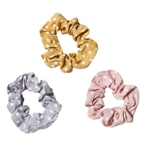 Image of Ciao Charlie 3-Pack Dot Scrunchies Blue/Yellow/Pink One Size (1389454)