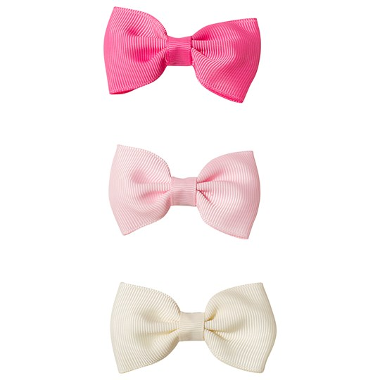 Ciao Charlie 3-Pack Bow Hair Clips Cream/Pink