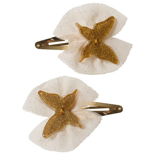 Ciao Charlie 2-Pack Butterfly Hair Clips Gold