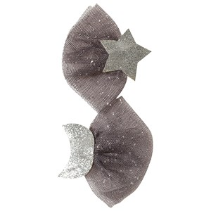 Image of Ciao Charlie 2-Pack Star/Moon Glitter Hair Clips Silver One Size (1389465)