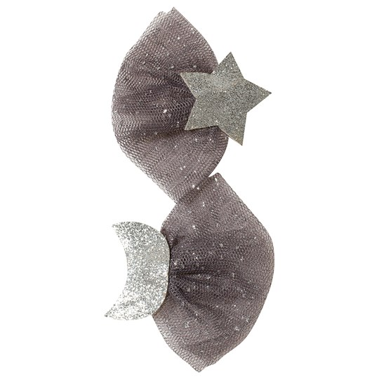 Ciao Charlie 2-Pack Star/Moon Glitter Hiusklipsit Silver