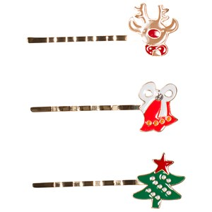 Image of Ciao Charlie 3-Pack Festive Hair Clips One Size (1389467)