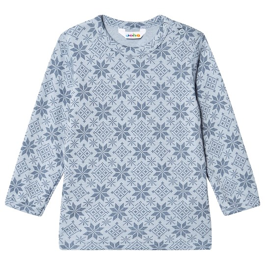 Joha Snow Flake Topp Blå Snow Crystal