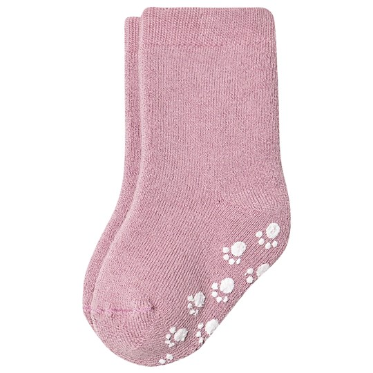 Joha Anti Slip Wool Sock Old Rose