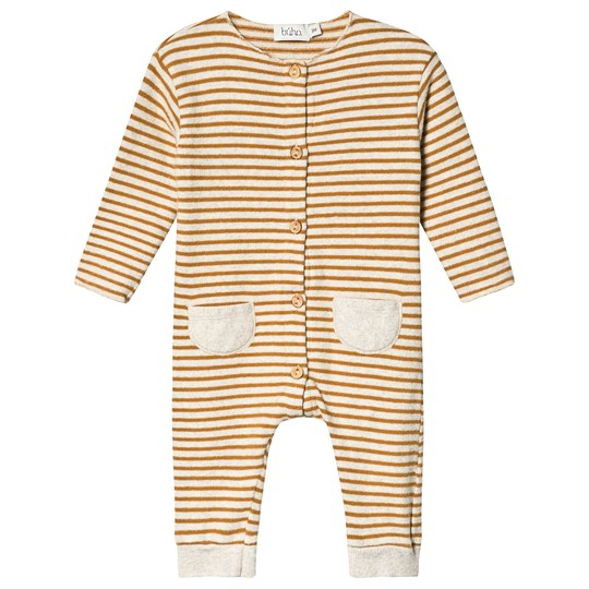 búho Bubu Stripe One-Piece Ecru Ecru