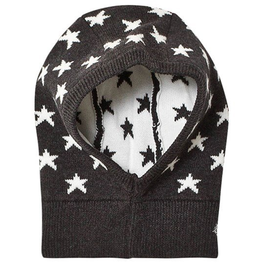 Petit Bateau Knitted Star Balaclava Black/White City/Marshmallow