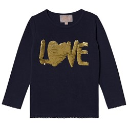 Creamie Love Sequin T-Shirt Total Eclipse