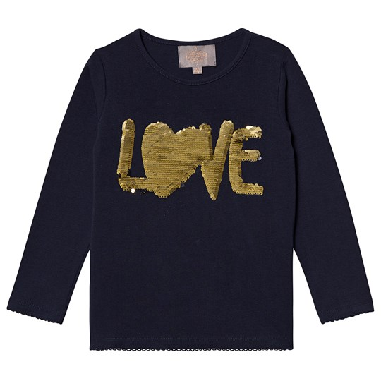 Creamie Sequin Long Sleeve Tee Total Eclipse Total Eclipse