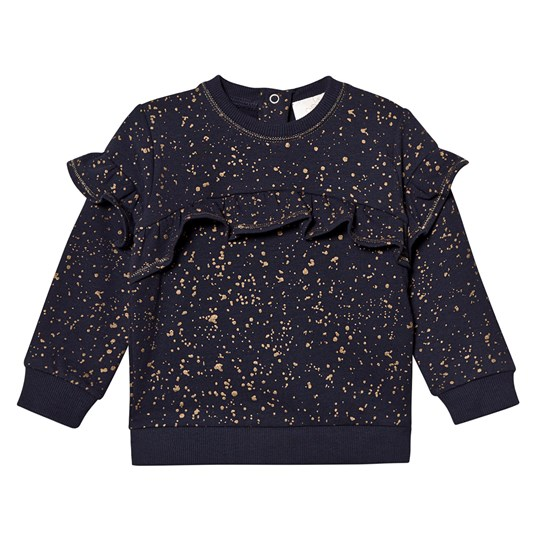 Creamie Gold Print Sweatshirt Total Eclipse Total Eclipse