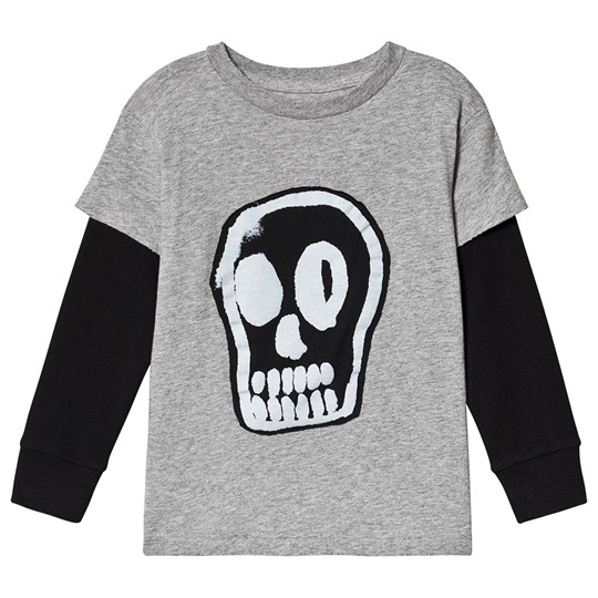 NUNUNU Dizzy Skull T-Shirt Heather Grey Grå