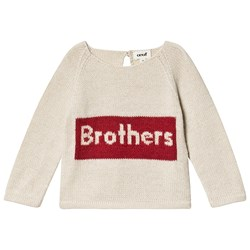 Oeuf Brothers Sweater White and Red