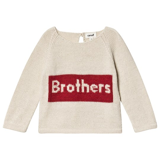 Oeuf Brothers Sweater White and Red White/Red