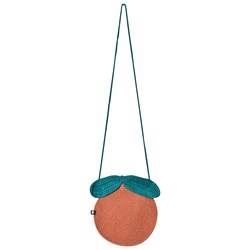 Oeuf Clementine Purse Apricot and Teal