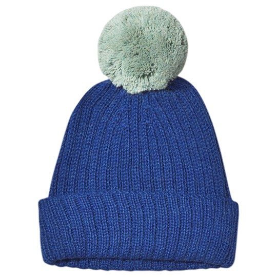Oeuf Pom-Pom Hat Electric Blue and Ocean Electric Blue/Ocean