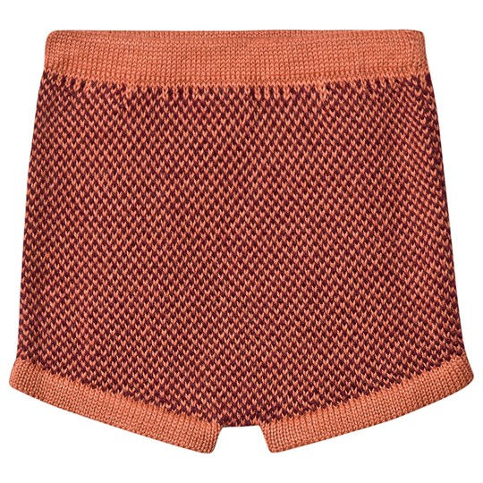 Oeuf Shorts Apricot and Burgundy Apricot/Burgundy
