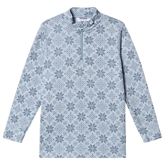 Joha Snow Flake Zip Top Blue Snow Crystal