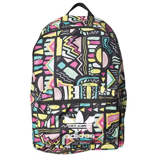 adidas Originals Multi Color Trefoil Logo Backpack Retro Print Multicolor