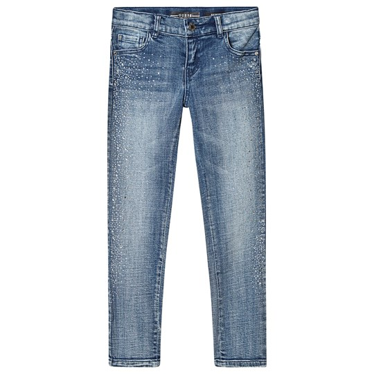 Guess Diamante Skinny Jeans Light Wash LBJW
