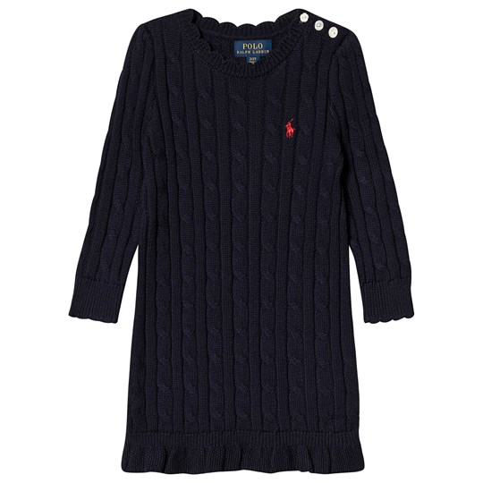 Ralph Lauren Cable Knit Dress Navy 001