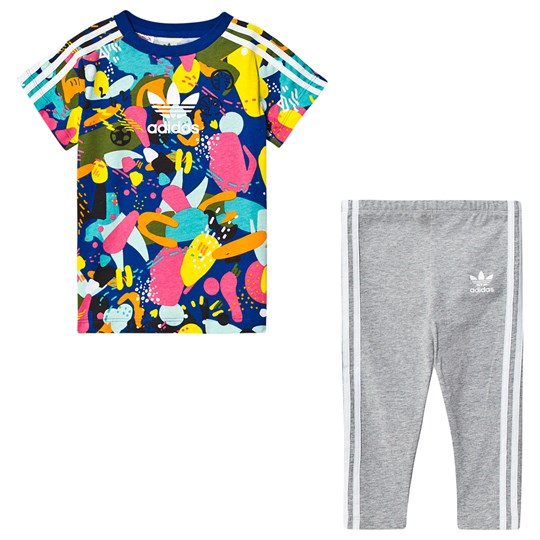 adidas Originals Multicolor Superstar T-Shirt and Bottom Infants Set Top:MULTICOLOR/white Bottom:MEDIUM GREY HEATHER/WH
