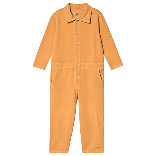 Weekend House Kids Green Dog Jumpsuit Yellow Yellow