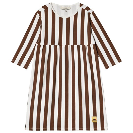Weekend House Kids Cuca Stripes Long Dress White/Brown White/brown