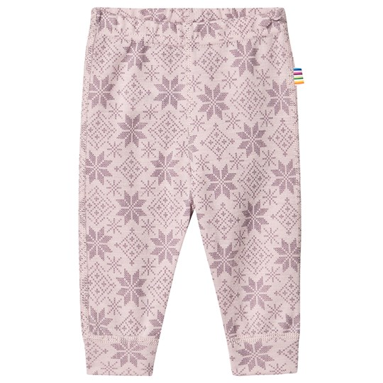 Joha Snow Flake Leggings Pink Snow Crystal