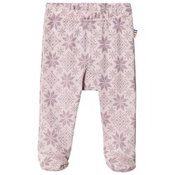 Joha Snow Flake Footed Leggings Pink