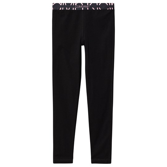 Calvin Klein Logo Leggings Navy and Pink BEH