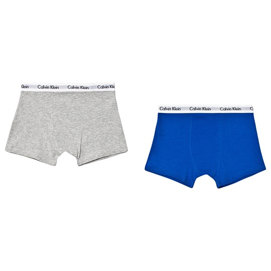 Calvin Klein 2 Pack of Trunks Blue/Grey 0IW