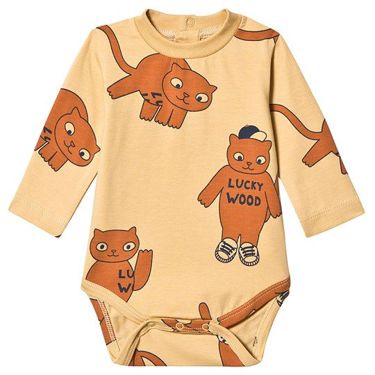 Tinycottons Cats Baby Body Sand/Brun Sand/Brown