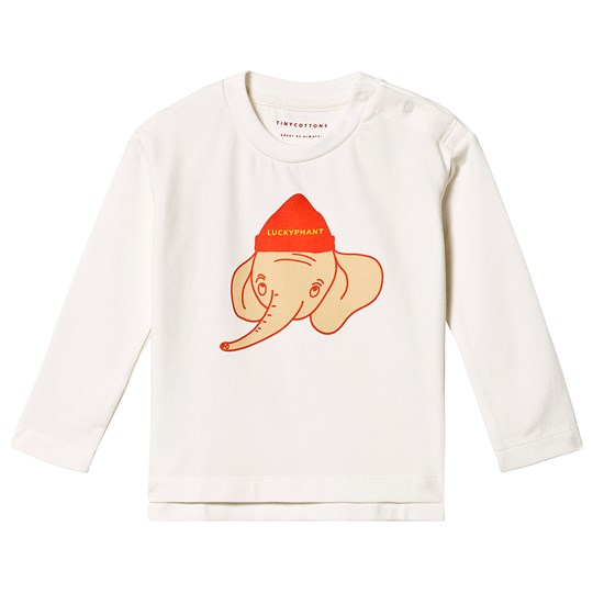 Tinycottons Luckyphant Tee Off-White/Sand Off-White/Sand