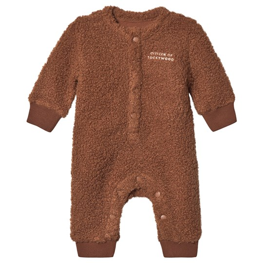 Tinycottons Citizen Of Luckywood One-Piece Dark Brown/Light Cream Dark Brown/Light Cream