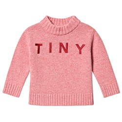 Tinycottons Tiny Mock Sweater Pale Pink/Bordeaux