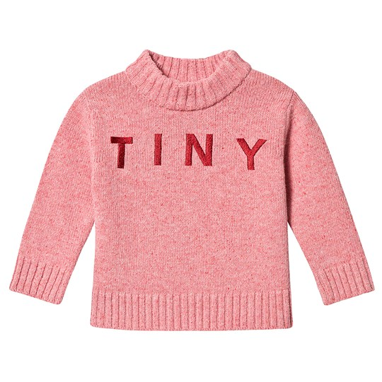 Tinycottons Tiny Mock Sweater Pale Pink/Burgundy Pale Pink/Burgundy