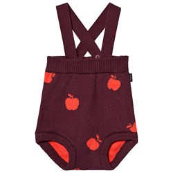 Tinycottons Apples Overalls Aubergine/Red