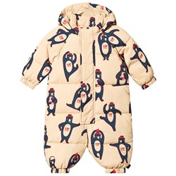 Tinycottons Bears Coverall Sand/True Navy