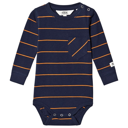 ebbe Kids Archie Baby Body Navy and Clementine Navy/Clementine