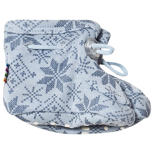 Joha Snow Flake Booties Blue Snow Crystal