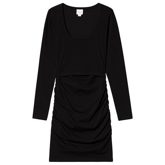 Boob Flatter Me Long Sleeve Dress Black Black
