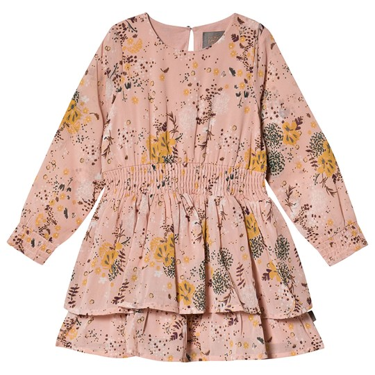 Creamie Printed Chiffon Dress Rose Smoke Rose Smoke