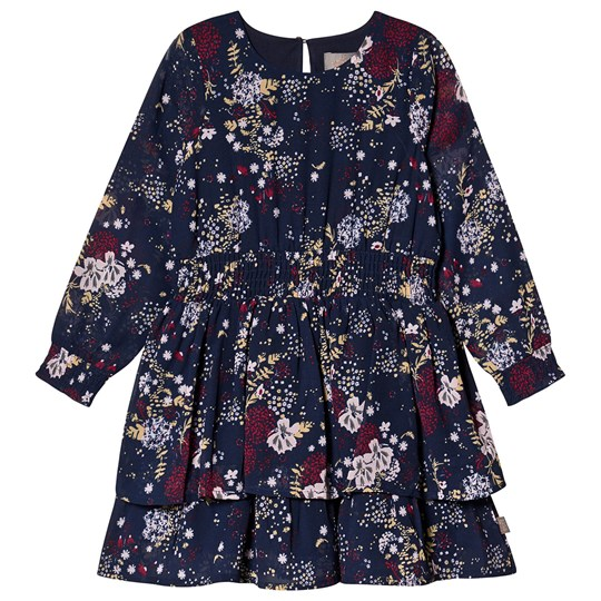 Creamie Printed Chiffon Dress Total Eclipse Total Eclipse