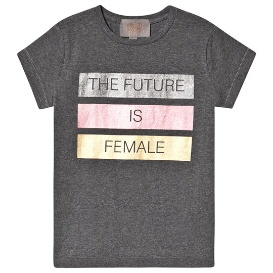 Creamie The Future Is Female T-Shirt Mörkgrå Melange Dark Grey melange