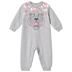 Kenzo Floral Tiger One-Piece Grey and Pink