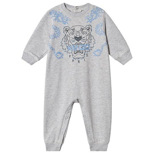Kenzo Floral Tiger One-Piece Grey and Blue 25