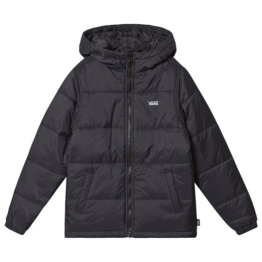 Vans Woodridge Branded Puffer Jakke Sort BLK1