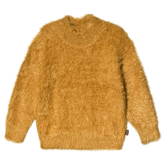 Creamie Long Haired Knit Sweater Harvest Gold Harvest Gold