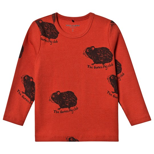 Mini Rodini Exclusive Guinea Pig Tee Red Red