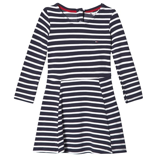 Tommy Hilfiger Striped Sweat Dress Navy and White 0FA