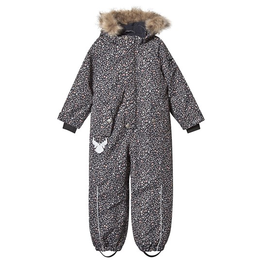 Wheat Moe Snowsuit Navy Print Navy
